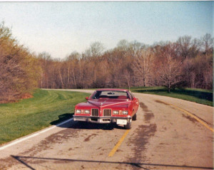 1977 Pontiac Grand Prix, red, classic car, big red car, pontiac, grand prix